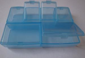Органайзер (голубой). Размер - 9,7 х 6,7 х 1,7 см.