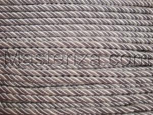 Шнур витой. Цвет (серый/белый)