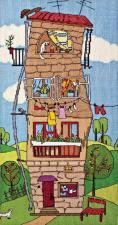 Летний домик. Размер - 19,2 х 38 см.