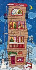 Зимний домик. Размер - 19,2 х 38 см.