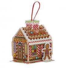 Пряничный домик. Размер - 10 х 12 см.