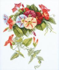Набор для вышивания крестом Crystal Art Вьюнок. Размер - 24 х 28,5 см.