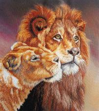 Панна | Львы. Размер - 17 х 19 см