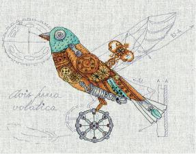 Птица механическая. Размер - 28 х 22 см.