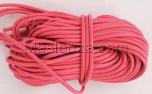 Кожаный шнур. Цвет (тёмно-розовый).