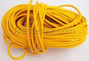 Кожаный шнур. Цвет (жёлтый).