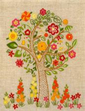 Маричка | Цветущее дерево. Размер - 17 х 22 см.