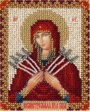 Икона Божией Матери Семистрельная. Размер - 8,5 х 11 см.