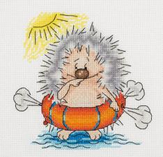 """Набор для вышивания Кларт """"Ёж купальщик"""". Размер - 15 х 15 см."""