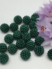 Бусина Шамбала. Цвет (зелёный).