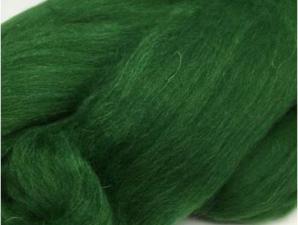 Шерсть для валяния зелёная (110).