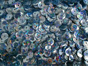 Пайетки круглые. Цвет (голубой перламутр).