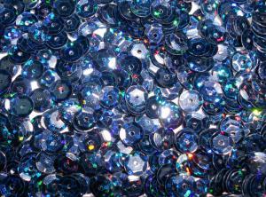 Пайетки круглые. Цвет (т.синий перламутр).