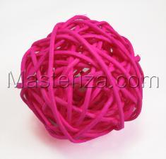 Ротанговый шар (розовый).