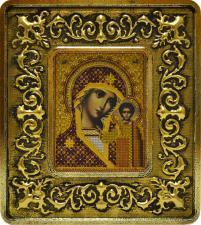Богородица Казанская (лилии золото).