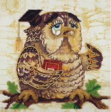 Панна | Вышивка бисером Мудрая сова. Размер - 20,5 х 20,5 см.