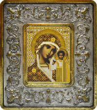 Богородица Казанская (лилии серебро).