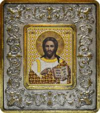 Христос Спаситель (лилии серебро).