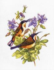 Овен | Птички-невелички.Колибри. Размер - 19 х 24 см.