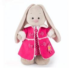 Зайка Ми в платье и розовой дублёнке, мягкая игрушка BudiBasa