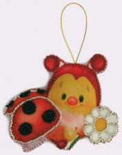 Butterfly | Игрушка из фетра Божья коровка. Размер - 12 х 10 см.