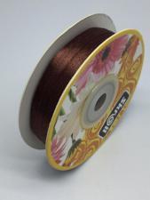 Лента атласная Skroll,3 мм,цвет№ 74 (коричневый)