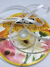 Лента атласная Skroll,6 мм,цвет№ 01 (белый)