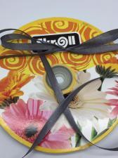 Лента атласная Skroll,6 мм,цвет№ 03 (тёмно-серый)