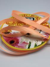 Лента атласная Skroll,12 мм,цвет№ 22 (светло-оранжевый)