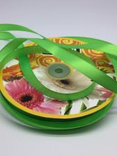 Лента атласная Skroll,12 мм,цвет№ 52 (светло-зелёный)