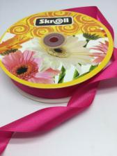 Лента атласная Skroll,25 мм,цвет№ 14 (малиновый)