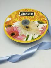 Лента атласная Skroll,25 мм,цвет№ 20 (голубой)