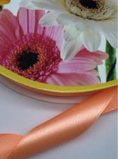 Лента атласная Skroll,25 мм,цвет№ 22 (светло-оранжевый)
