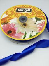 Лента атласная Skroll,25 мм,цвет№ 40 (василёк)