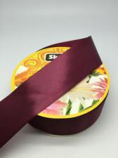Лента атласная Skroll,50 мм,цвет№ 83 (бордо)