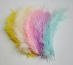 Перья индюшачьи светлые цвета.
