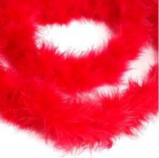 Боа (пух). Цвет-красный