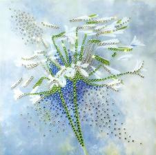 Чаривна мить | Картина стразами Дуновение ветра. Размер - 19,8 х 19,8 см