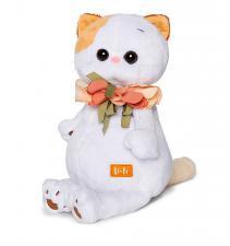 Кошечка Ли-Ли с цветами из шёлка.