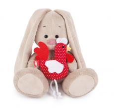 Зайка Ми с петушком, мягкая игрушка BudiBasa. Размер - 18 см.