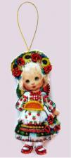 Butterfly | Игрушка из фетра Кукла.Украина. Размер - 7 х 12 см.