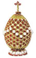 Яйцо пасхальное-2. Размер - 5 х 6,5 см.
