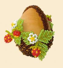 """Яйцо пасхальное """"Корзиночка"""". Размер - 4,5 х 6,5 см."""