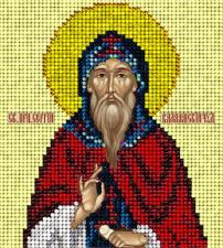 Краса и творчество | Святой Сергий Валаамский. Размер - 9,8 х 11 см