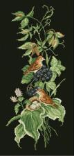 Птицы 1. Размер - 21,8 х 45,6 см.