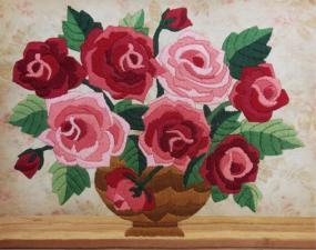Ароматные розы. Размер - 21 х 17 см.