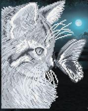 Кот с бабочкой. Размер - 19 х 24,1 см.