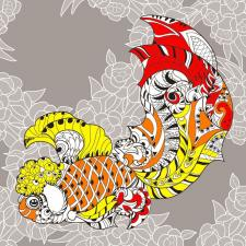Матрёнин Посад | Узор золотой рыбки. Размер - 36 х 36 см.