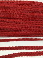 Тесьма Шанель,10 мм,цвет 148 (тёмно-красный)