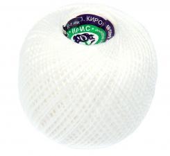 """Нитки для вязания """"Ирис"""". Цвет 0101 белый"""